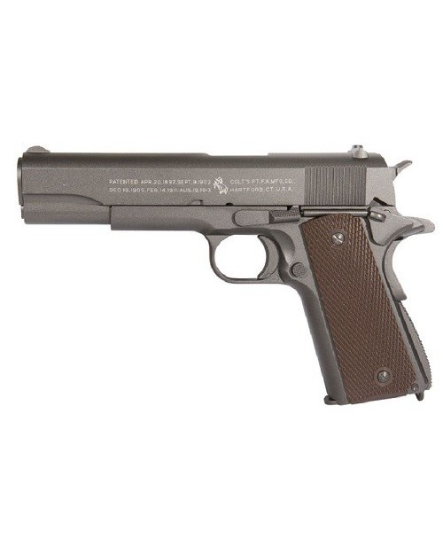 COLT 1911 RAIL GUN STAINLESS CO2 1.1 JOULE FULL METAL BLOWBACK